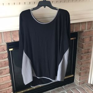 Women's lane Bryant black gray plus size top 26/28